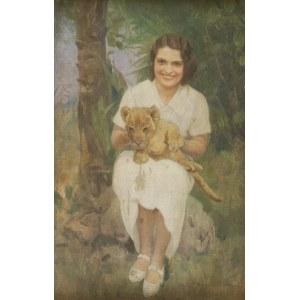 Franciszek ZYGMUNTOWICZ (1875-1947), Portret kobiety z lwiątkiem