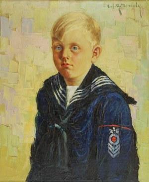 Grzegorz MENDOLY (?-1943), Chłopczyk w marynarskim ubranku