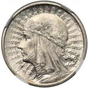 Głowa Kobiety 2 złote 1933 - NGC MS64