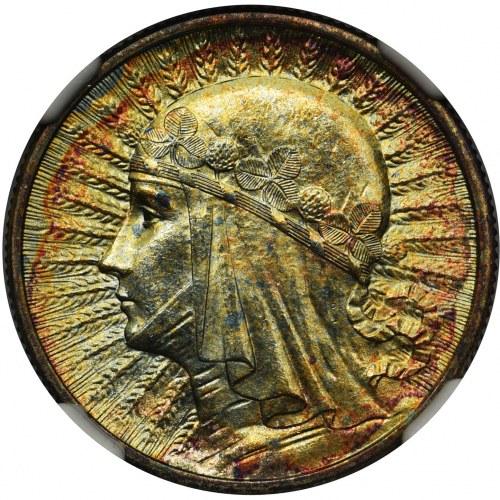 Głowa Kobiety 2 złote 1934 - NGC MS65★