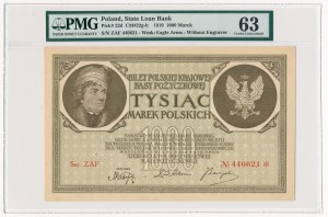 1.000 marek 1919 - Ser. ZAF - PMG 63