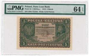5 marek 1919 - II Serja DN - PMG 64 EPQ