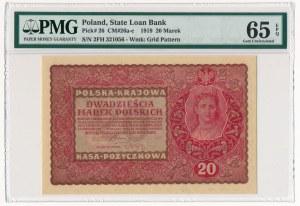 20 marek 1919 - II Serja FH - PMG 65 EPQ
