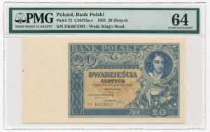 20 złotych 1931 -D.K- PMG 64