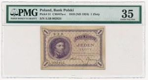 1 złoty 1919 S.5 B - PMG 35