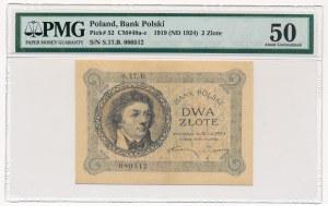 2 złote 1919 S.17.B - PMG 50