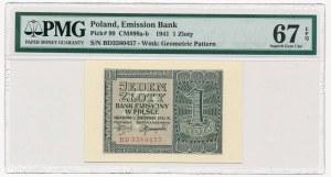 1 złoty 1941 -BD- PMG 67 EPQ