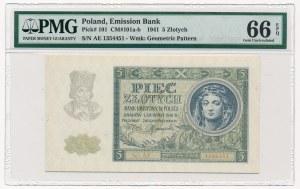5 złotych 1941 -AE- PMG 66 EPQ