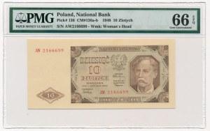 10 złotych 1948 -AW- PMG 66 EPQ