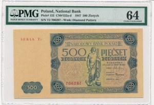 500 złotych 1947 -T2- PMG 64