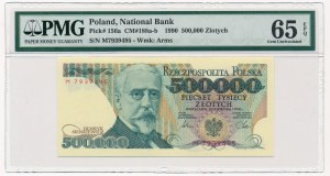 500.000 złotych 1990 -M- PMG 65 EPQ