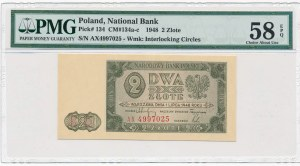 2 złote 1948 -AX- PMG 58 EPQ