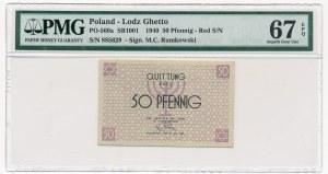 50 fenigów 1940 czerwony numerator - PMG 67 EPQ