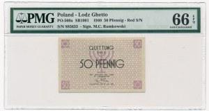 50 fenigów 1940 czerwony numerator - PMG 66 EPQ