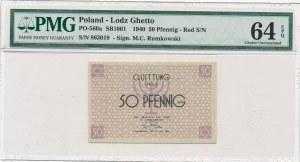 50 fenigów 1940 czerwony numerator - PMG 64 EPQ