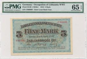 Kowno 5 marek 1918 -C- PMG 65 EPQ