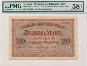 Kowno 20 marek 1918 -A- PMG 58 EPQ