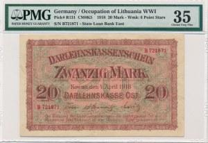 Kowno 20 marek 1918 -B- PMG 35