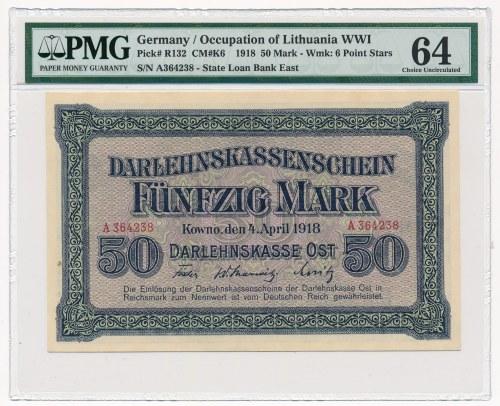 Kowno 50 marek 1918 -A- PMG 64