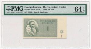 Czechosłowacja - Getto Terezin - 1 korona 1943 - PMG 64 EPQ