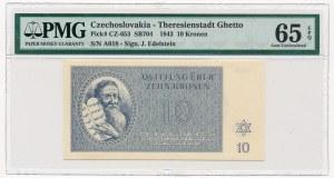 Czechosłowacja - Getto Terezin - 10 koron 1943 - PMG 65 EPQ
