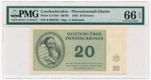 Czechosłowacja - Getto Terezin - 20 koron 1943 - PMG 66 EPQ