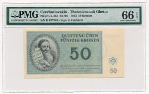 Czechosłowacja - Getto Terezin - 50 koron 1943 - PMG 66 EPQ