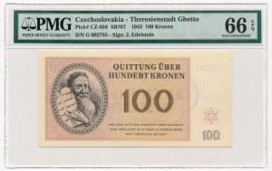 Czechosłowacja - Getto Terezin - 100 koron 1943 - PMG 66 EPQ