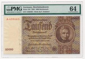 Niemcy - 1.000 marek 1936 - PMG 64