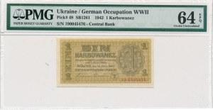 Ukraina - 1 karbowaniec 1942 - PMG 64 EPQ