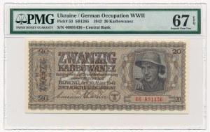 Ukraina - 20 karbowańców 1942 - PMG 67 EPQ