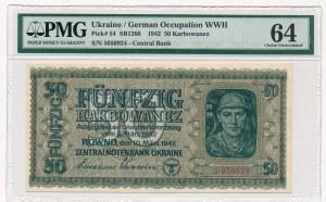 Ukraina - 50 karbowańców 1942 - PMG 64
