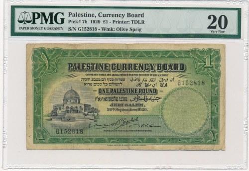 Palestyna 1 funt 1929 - PMG 20