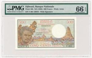 Dżibuti - 500 franków 1988 - PMG 66 EPQ