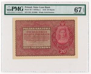 20 marek 1919 - II Serja FL - PMG 67 EPQ