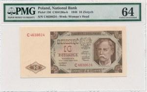 10 złotych 1948 -C- PMG 64