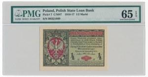 1/2 marki 1916 Generał - PMG 65 EPQ