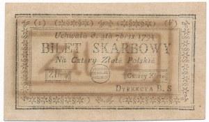 4 złote 1794 (1)(F) Kolekcja Lucow - okazowy egzemplarz