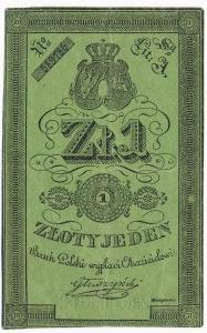 1 złoty 1831 Głuszyński - bardzo świeża