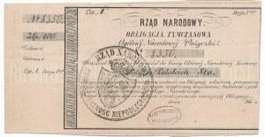 Rząd Narodowy - Obligacja Tymczasowa 100 złotych z numeratorem