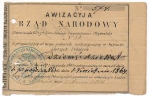 Rząd Narodowy - Awizacyja 90 złotych 1864
