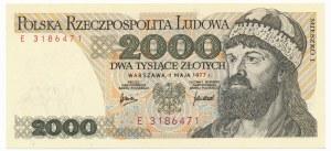 2.000 złotych 1977 -E-