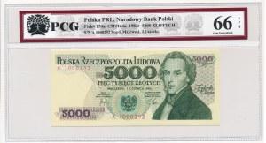 5.000 złotych 1982 -A- PCG 66 EPQ