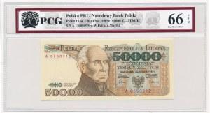 50.000 złotych 1989 -A- PCG 66 EPQ