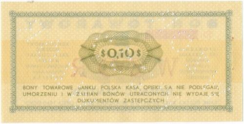 Pewex Bon Towarowy 10 centów 1969 WZÓR -Eb- NIEZNANY