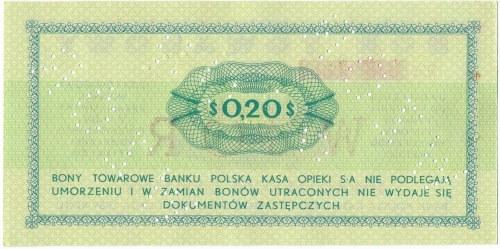 Pewex Bon Towarowy 20 centów 1969 WZÓR -En- NIEZNANY