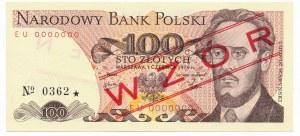 100 złotych 1979 WZÓR EU 0000000 No.0362