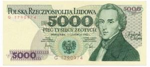 5.000 złotych 1982 -G-