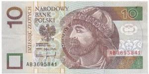 10 złotych 1994 -AB- najrzadsza