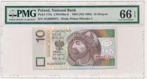 10 złotych 1994 -AG- PMG 66 EPQ